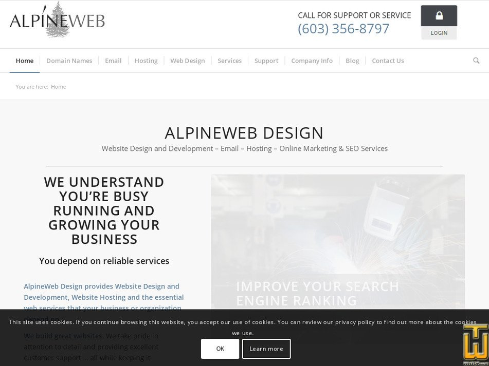 alpineweb.com Screenshot
