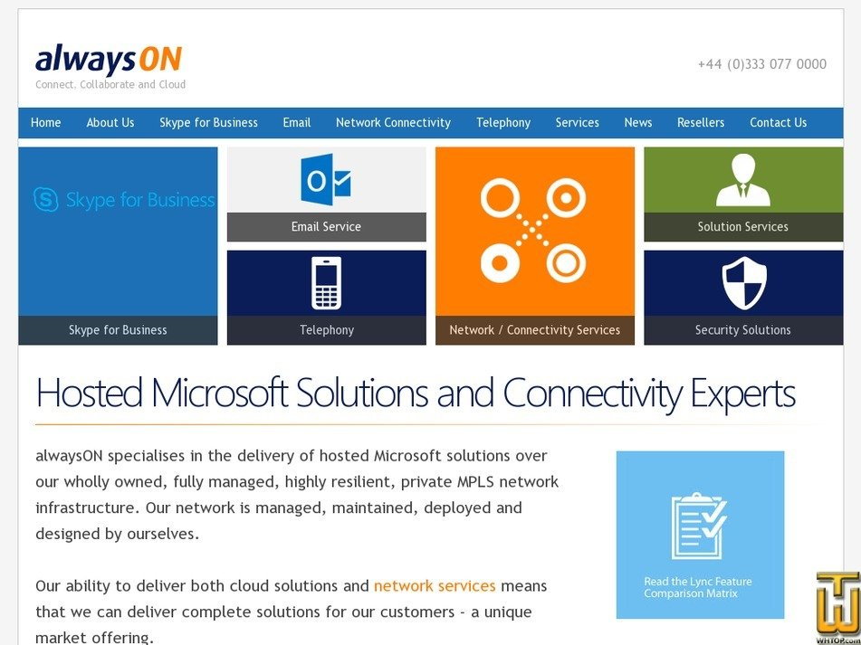 alwayson.co.uk Screenshot