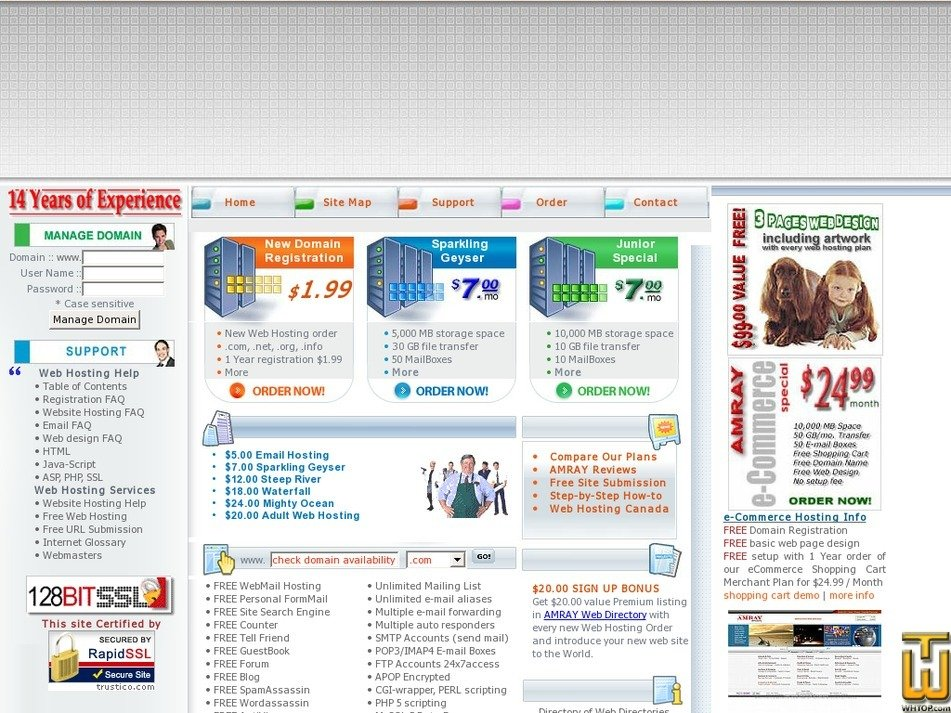 amrayhosting.com Screenshot