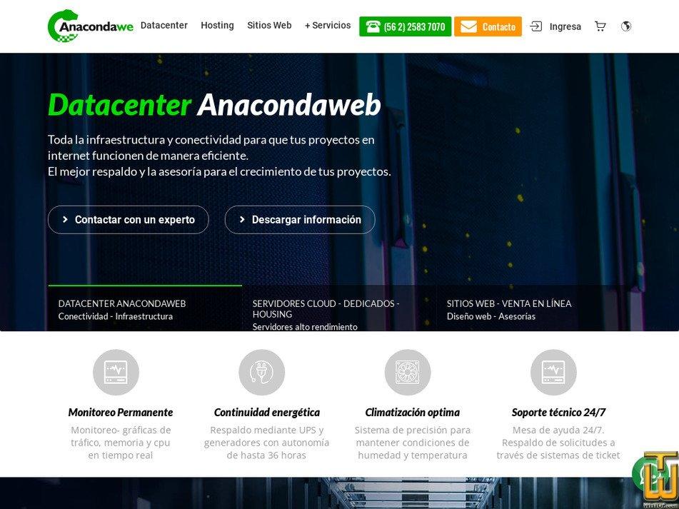anacondaweb.com Screenshot