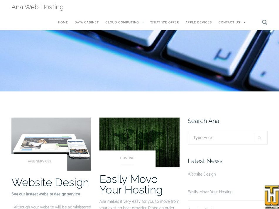 anawebhosting.co.uk Screenshot