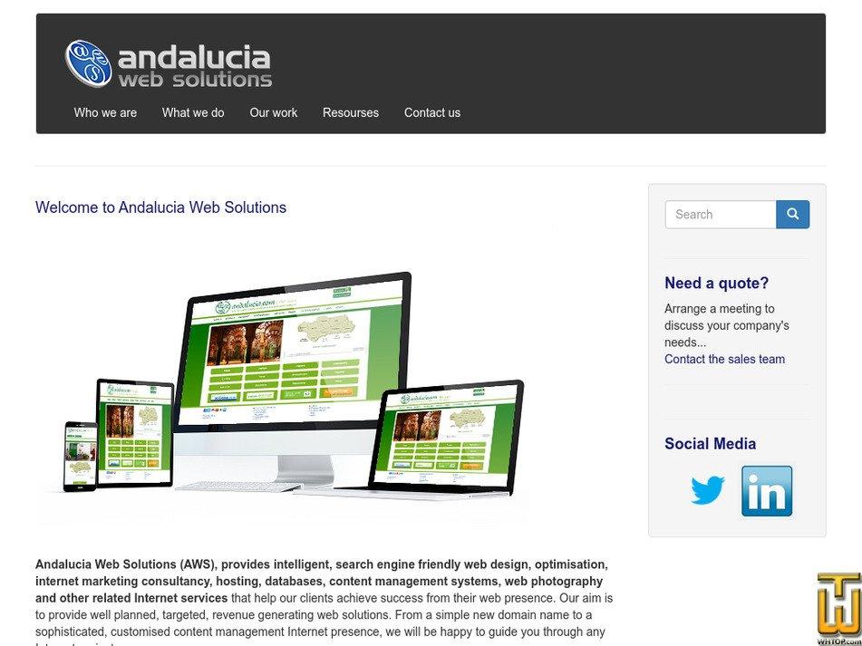 andaluciaws.com Screenshot