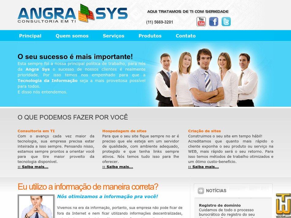 angrasys.com.br Screenshot