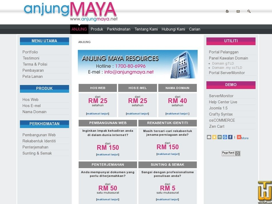 anjungmaya.net Screenshot