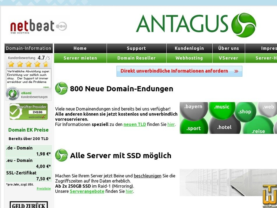 antagus.de Screenshot