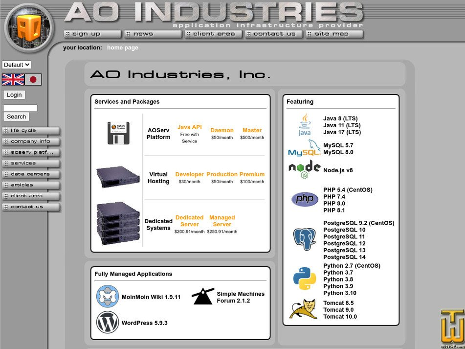 aoindustries.com Screenshot