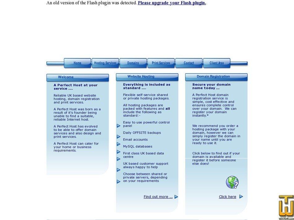 aperfecthost.net Screenshot