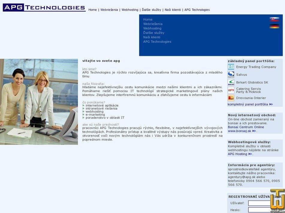 apg.sk Screenshot