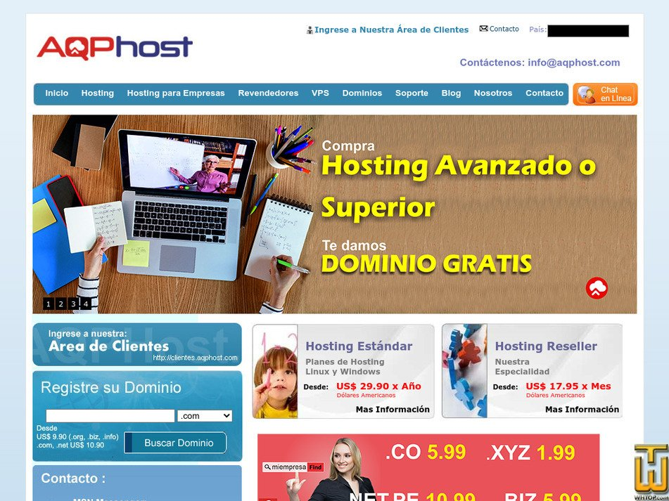 aqphost.com Screenshot