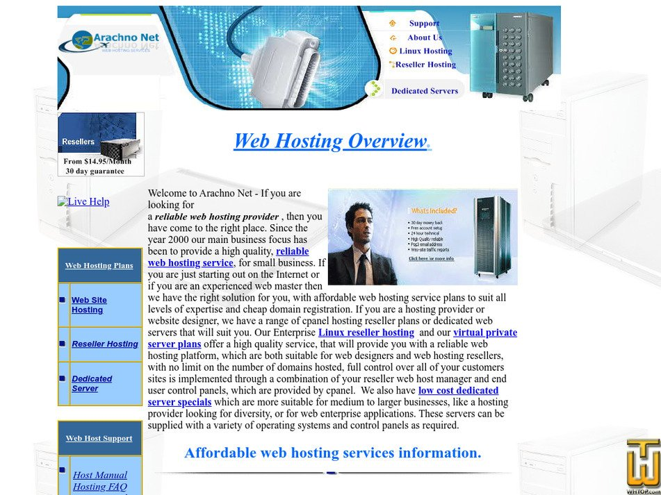 arachnonet.com Screenshot