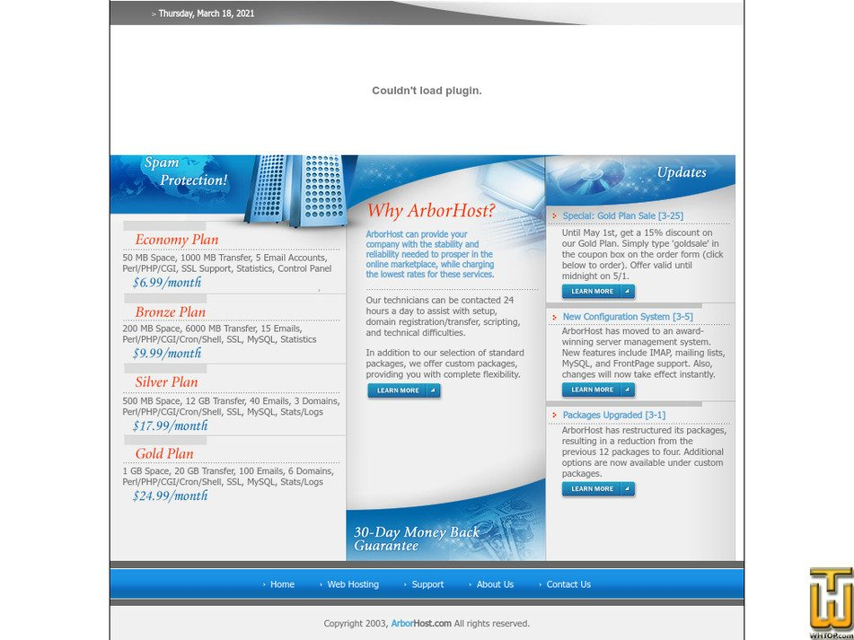 arborhost.com Screenshot