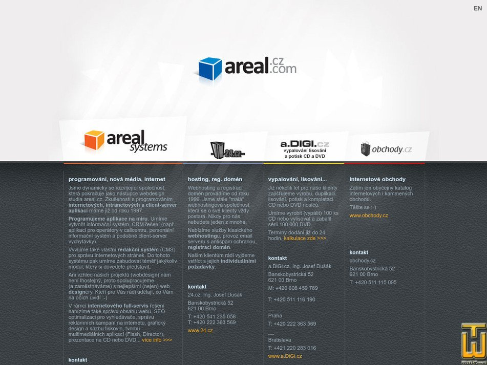 areal.cz Screenshot