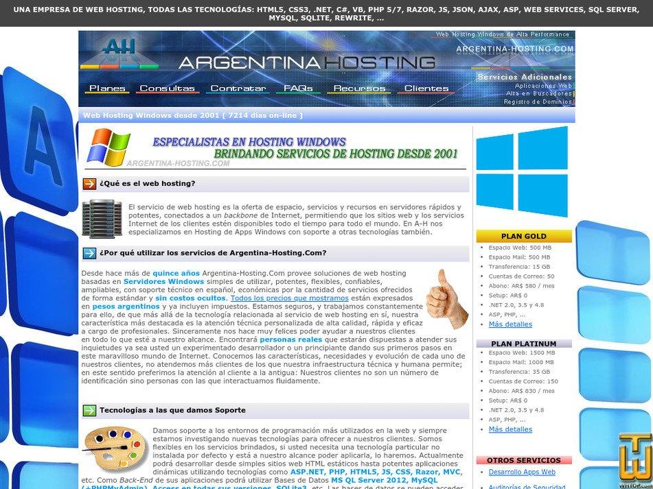 argentina-hosting.com Screenshot