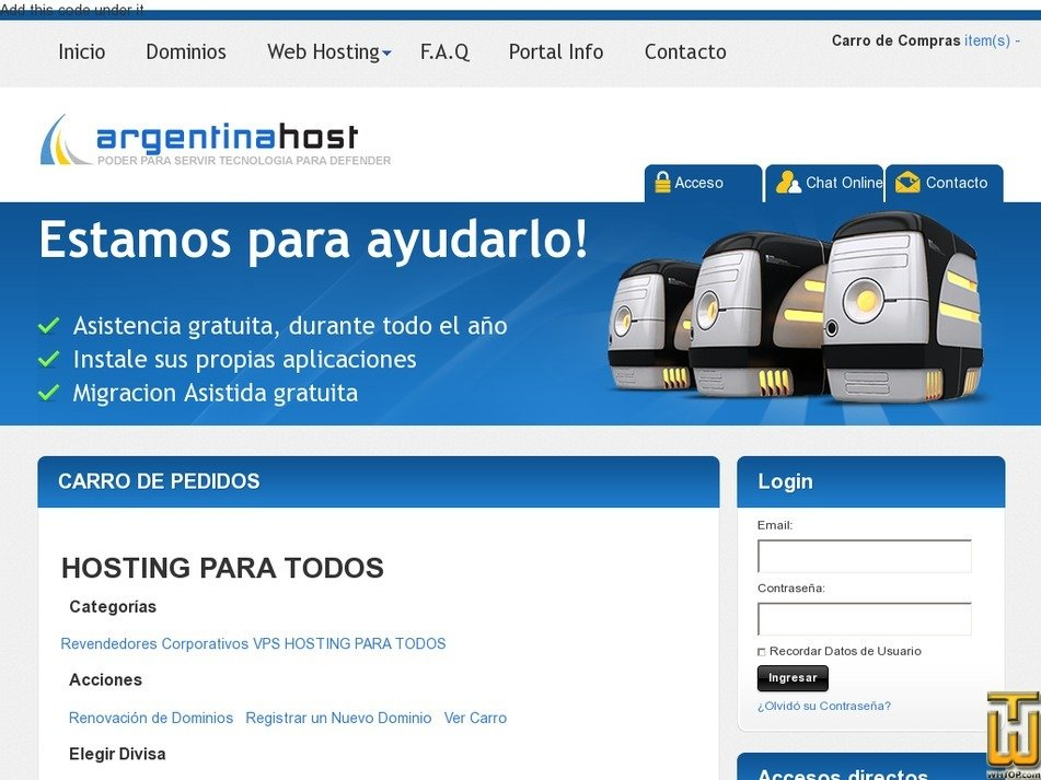 argentinahost.com Screenshot