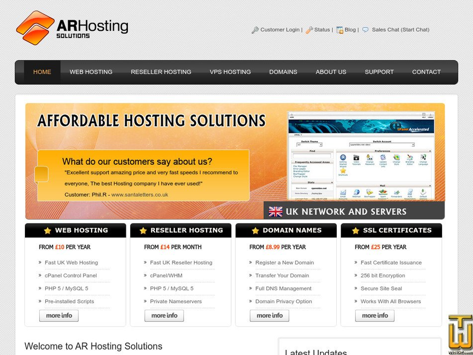 arhoster.com Screenshot