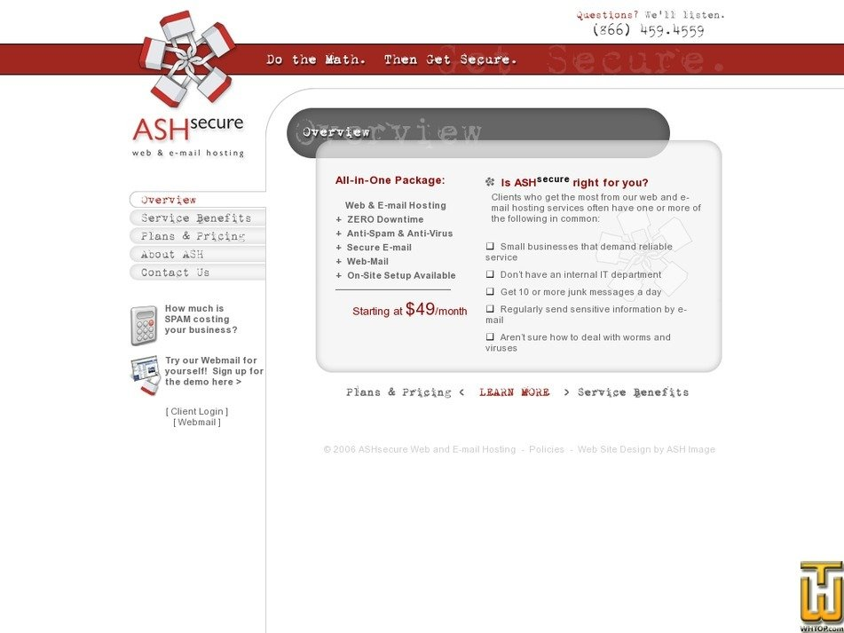 ashsecure.com Screenshot