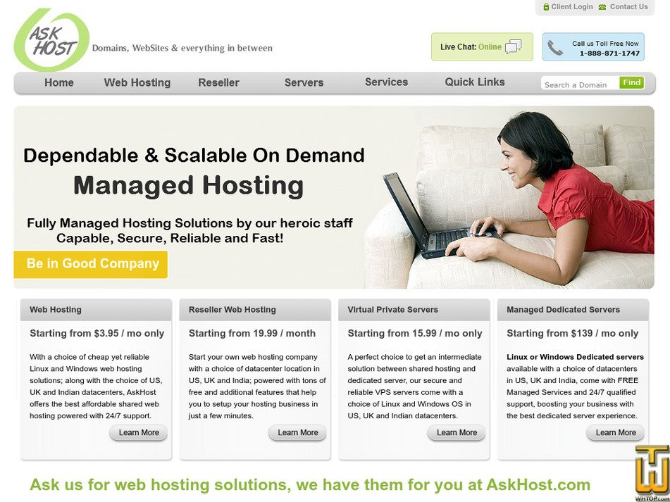 askhost.com Screenshot