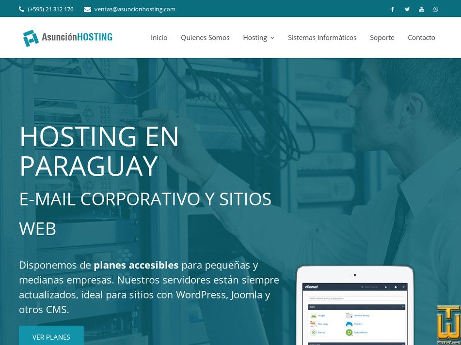 asuncionhosting.com Screenshot