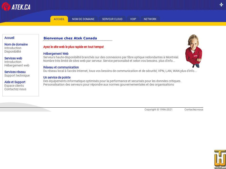 atek.ca Screenshot
