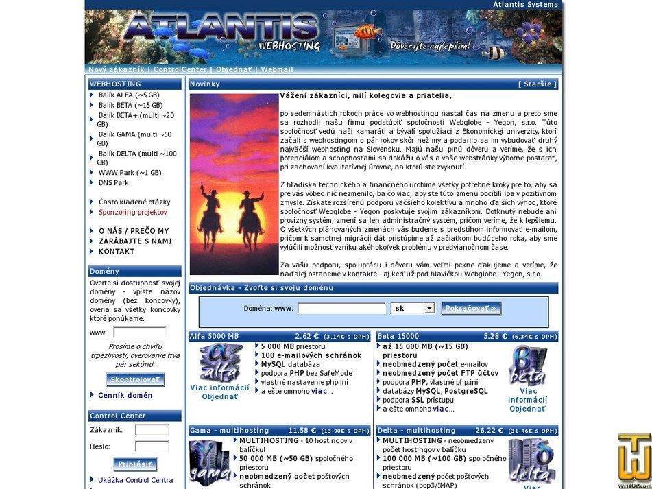 atlantis.sk Screenshot