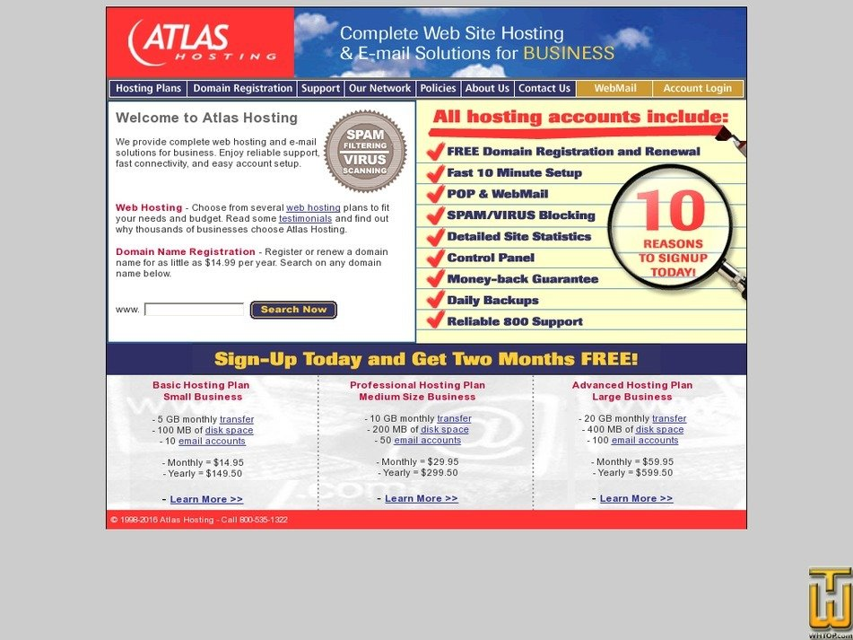 atlashosting.com Screenshot