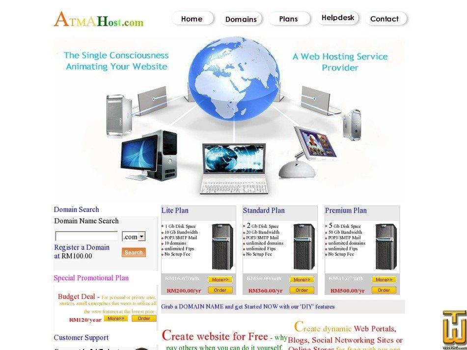 atmahost.com Screenshot