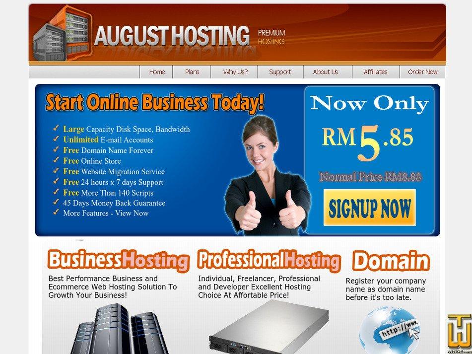 augusthosting.com Screenshot