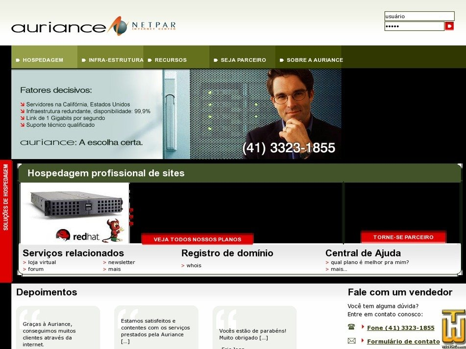 auriance.net Screenshot