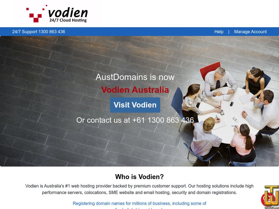 austdomains.com.au Screenshot