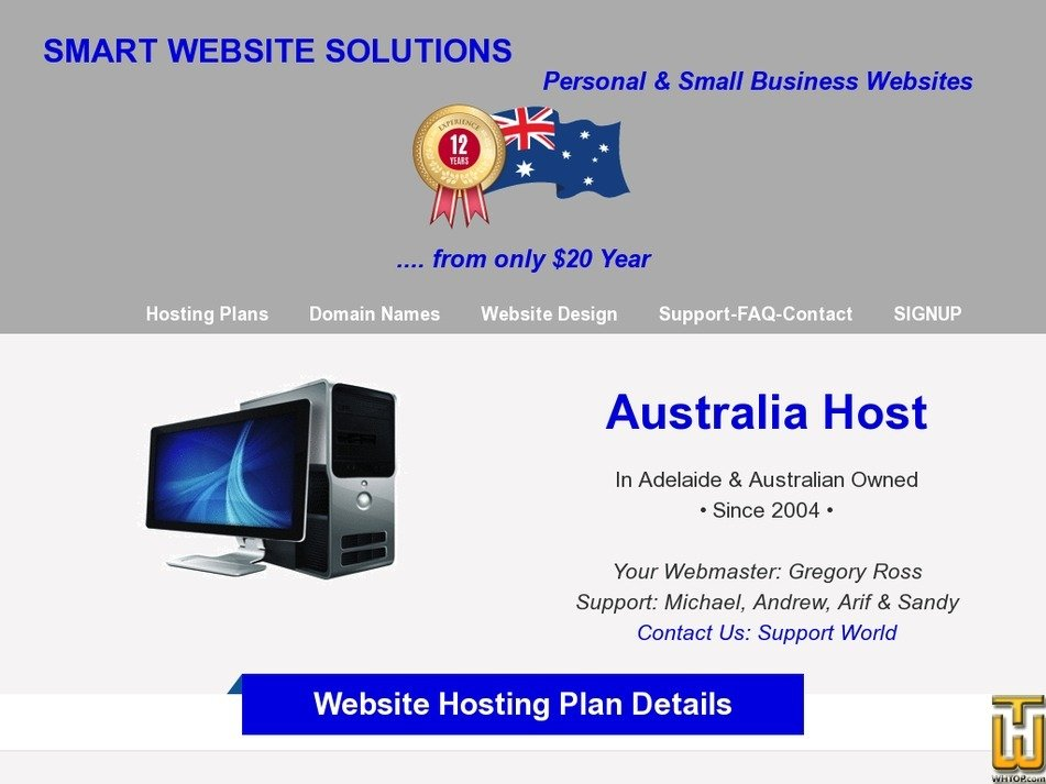 australia-host.com Screenshot
