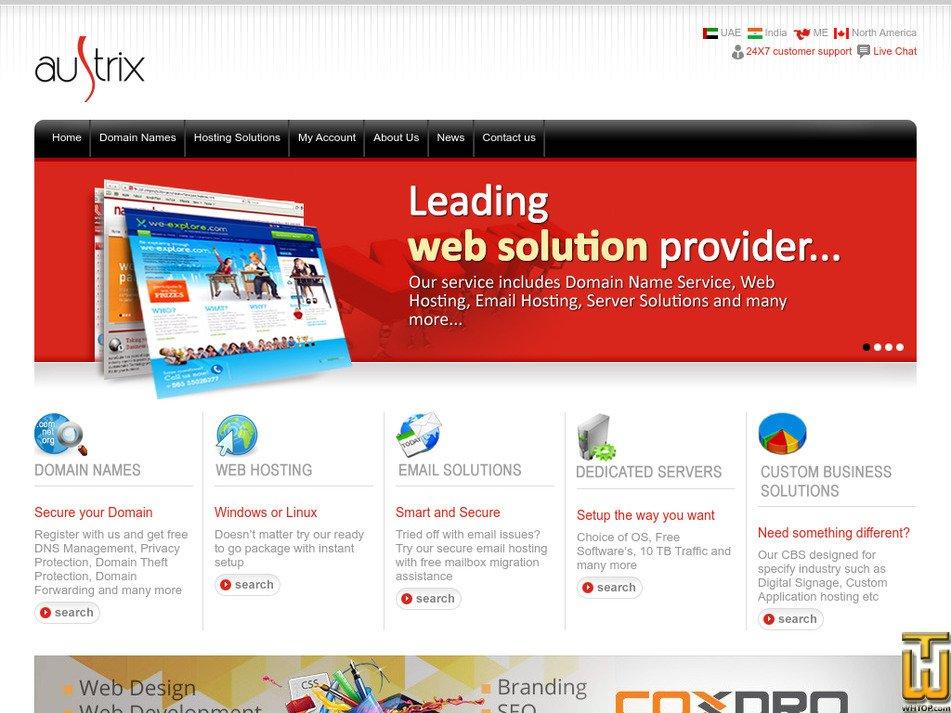 austrix.com Screenshot