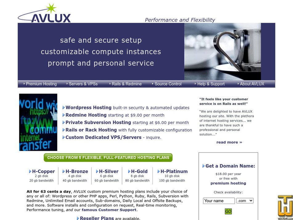 avlux.net Screenshot
