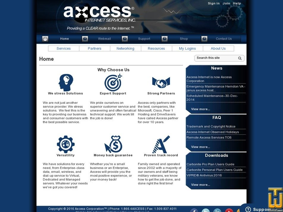 axcess.us Screenshot