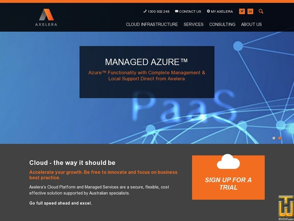 axelera.com.au Screenshot