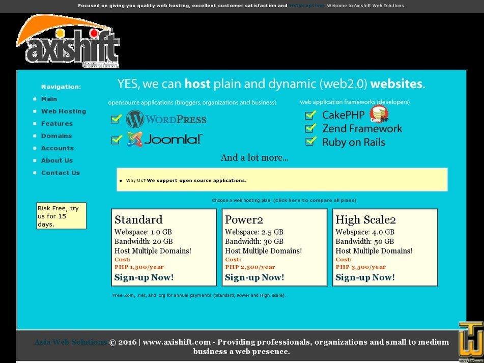 axishift.com Screenshot
