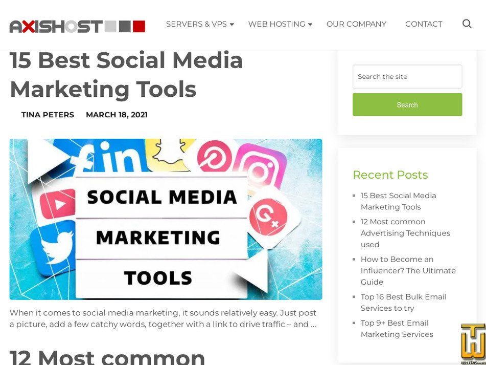 axishost.com Screenshot