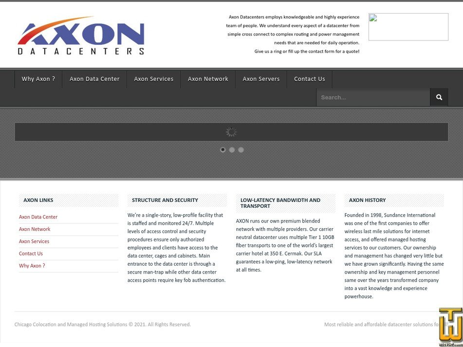 axondatacenters.com Screenshot