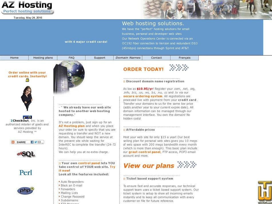 azhosting.com Screenshot