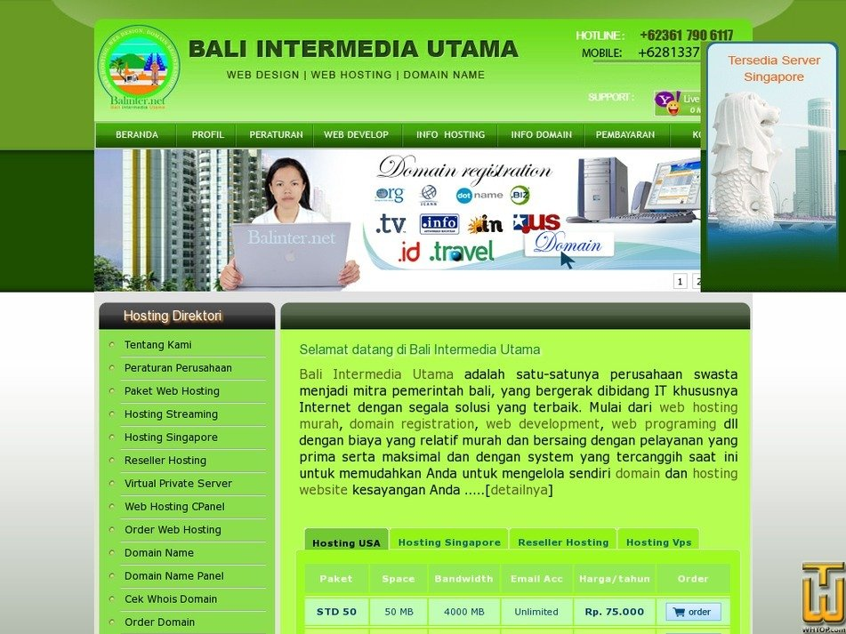 balinter.net Screenshot