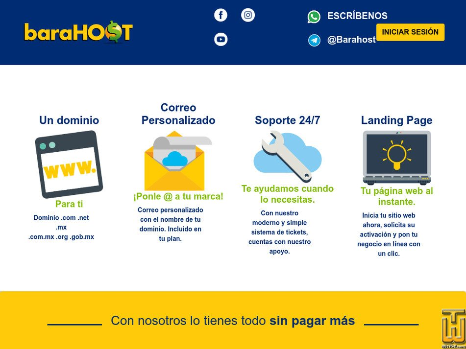 barahost.com Screenshot