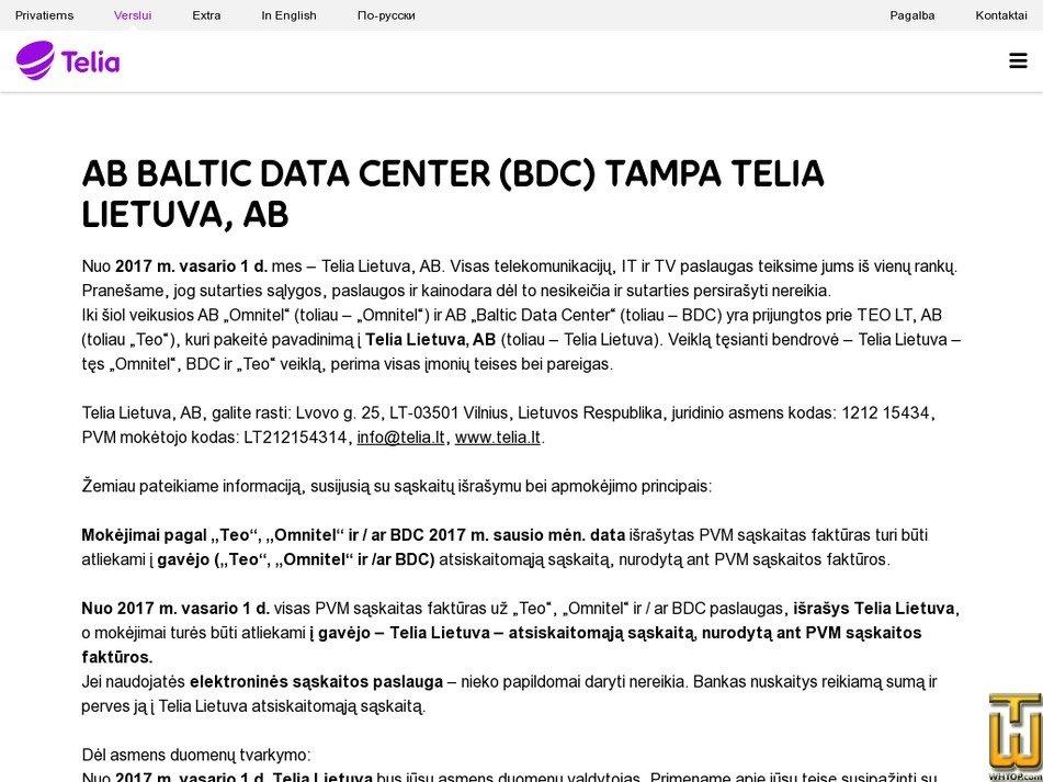 bdc.lt Screenshot