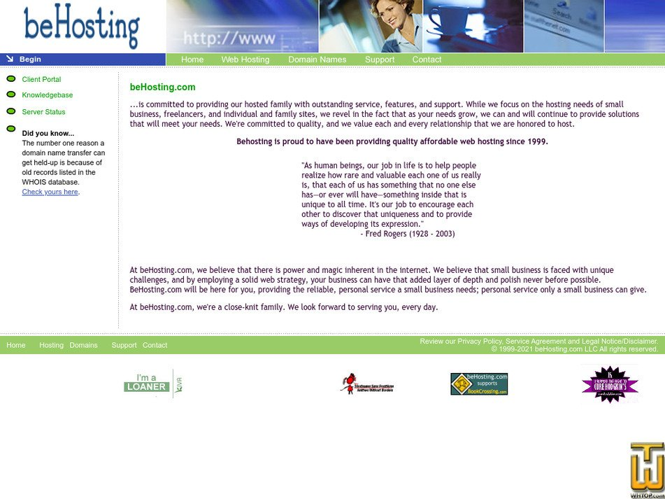 behosting.com Screenshot