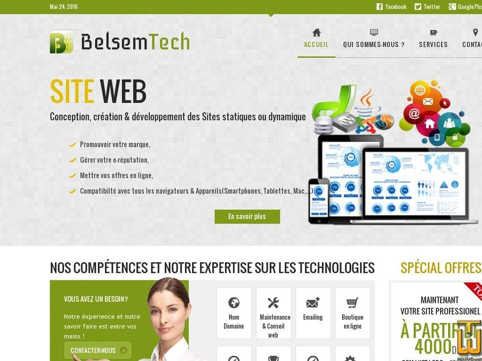 belsemtech.com Screenshot