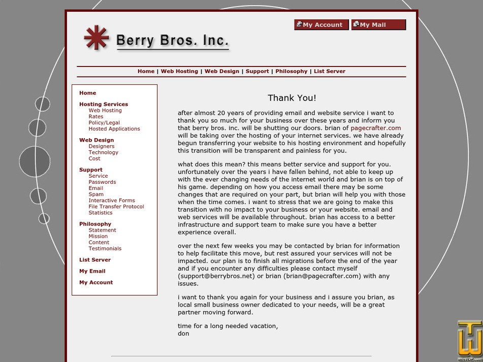 berrybros.net Screenshot