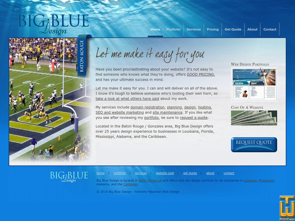 bigbluedesign.com Screenshot