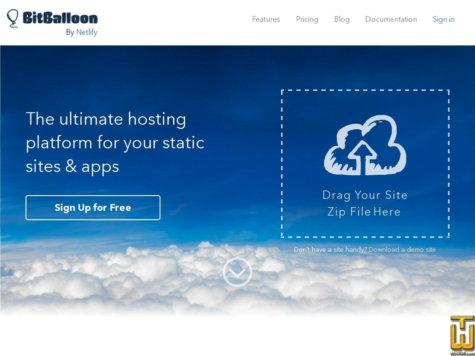 bitballoon.com Screenshot