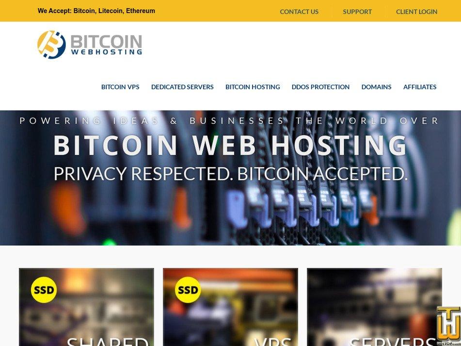 bitcoinwebhosting.net Screenshot