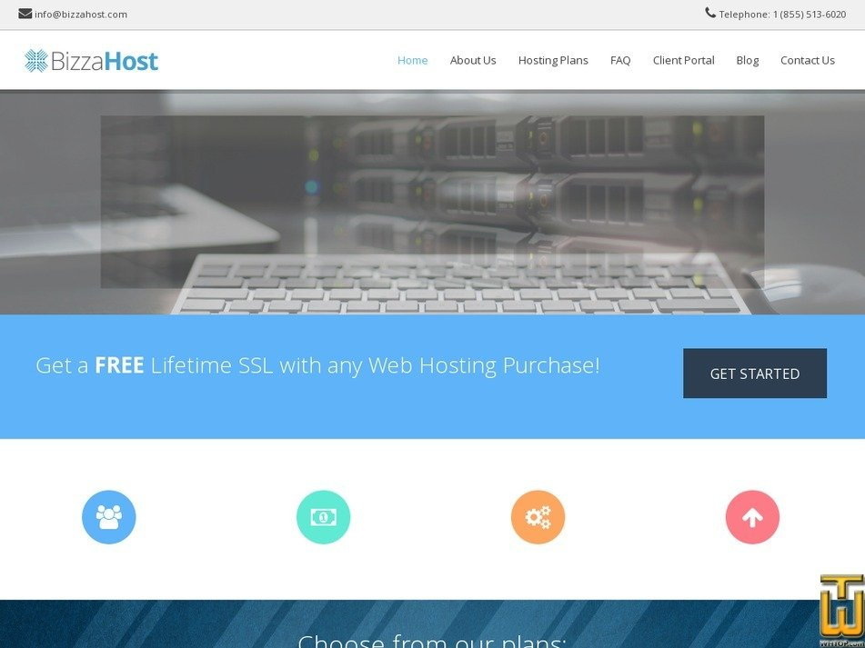 bizzahost.com Screenshot