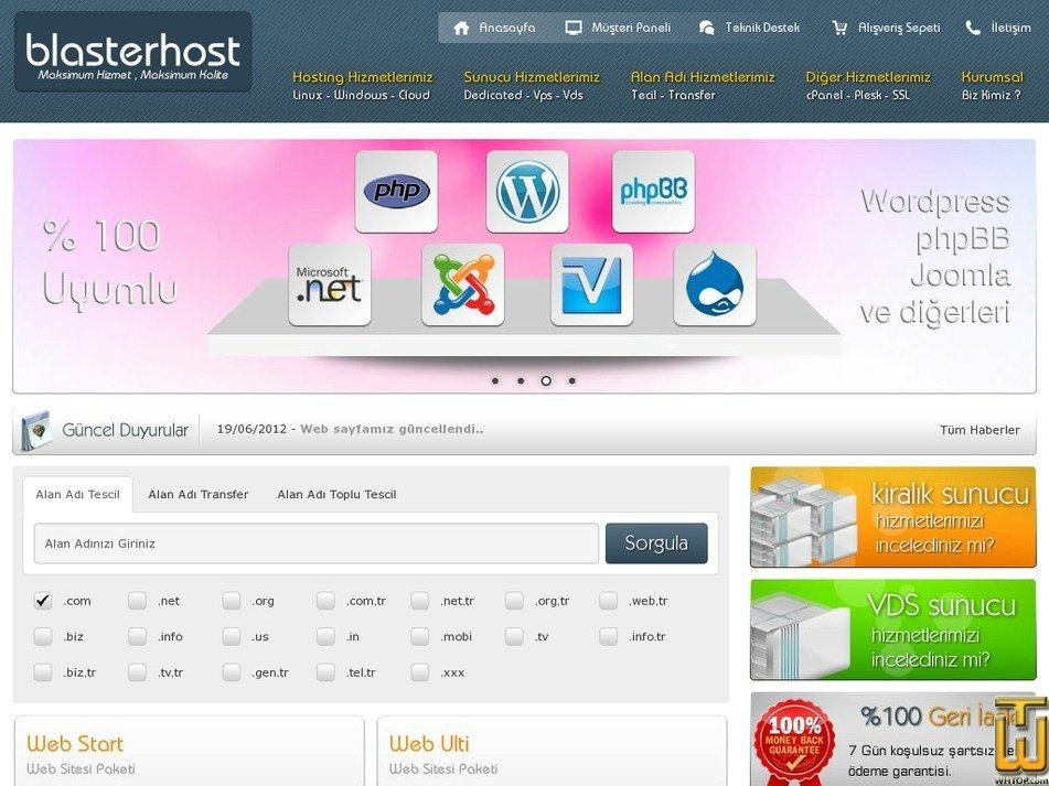 blasterhost.com Screenshot