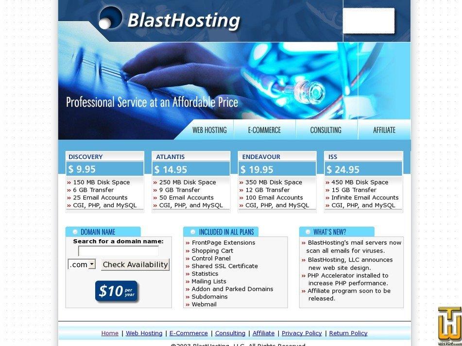 blasthosting.com Screenshot